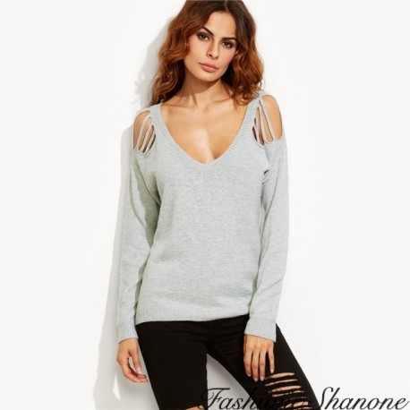 Fashione Shanone - Shoulder holes sweater