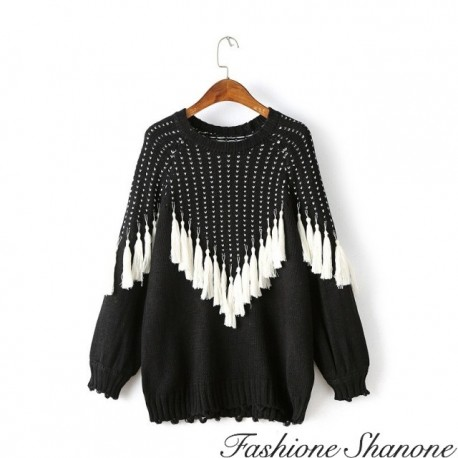 Fashione Shanone - Sweater with fringes