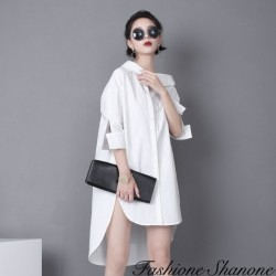 Fashione Shanone - Asymmetrical shirt dress