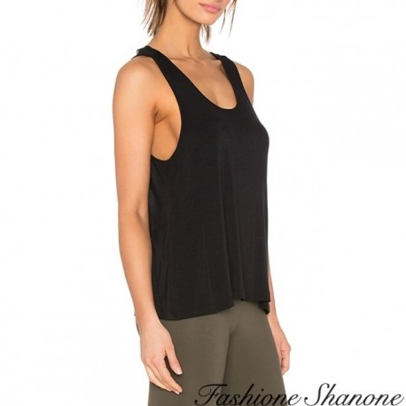 Fashione Shanone - Tank top with transparent back