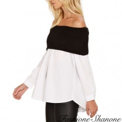 Fashione Shanone - Blouse à encolure Bardot