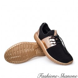 Fashione Shanone - Mirror and black sneakers