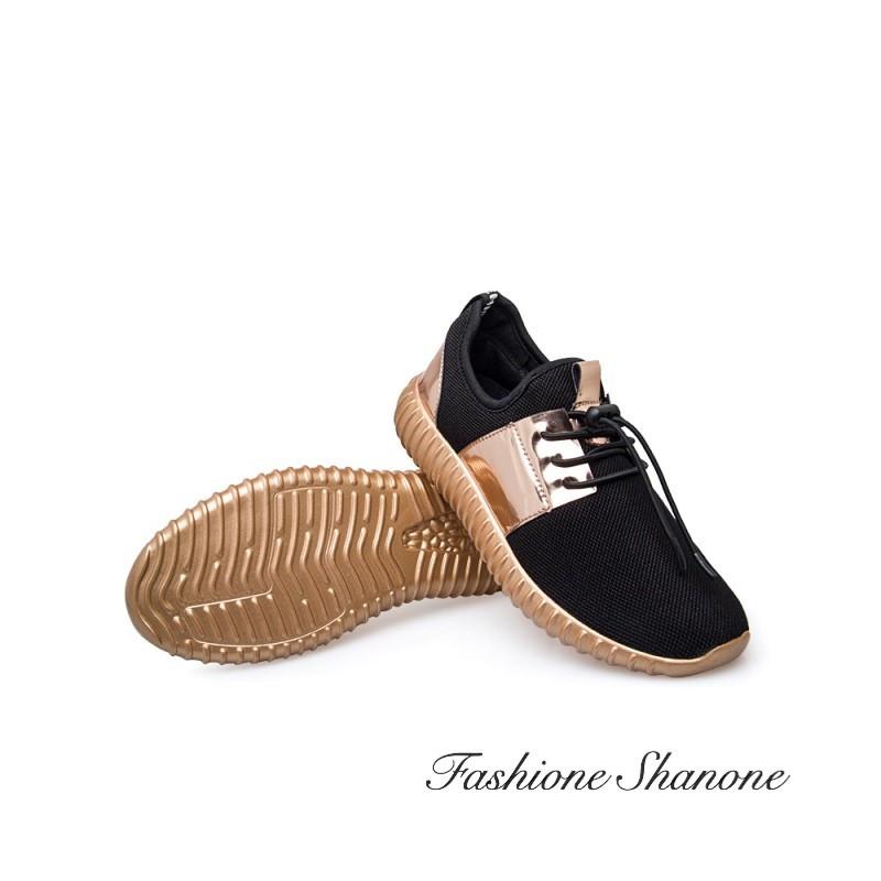 Fashione Shanone - Mirror and black sneakers