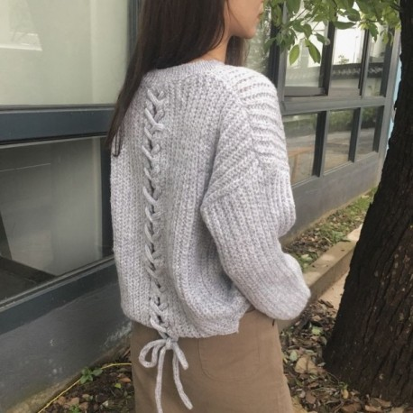 Fashione Shanone - Lace-up sweater