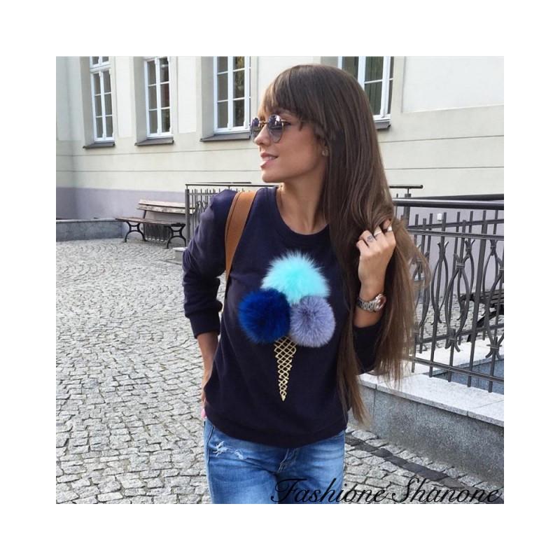 Fashione Shanone - Ice-cream cone sweatshirt