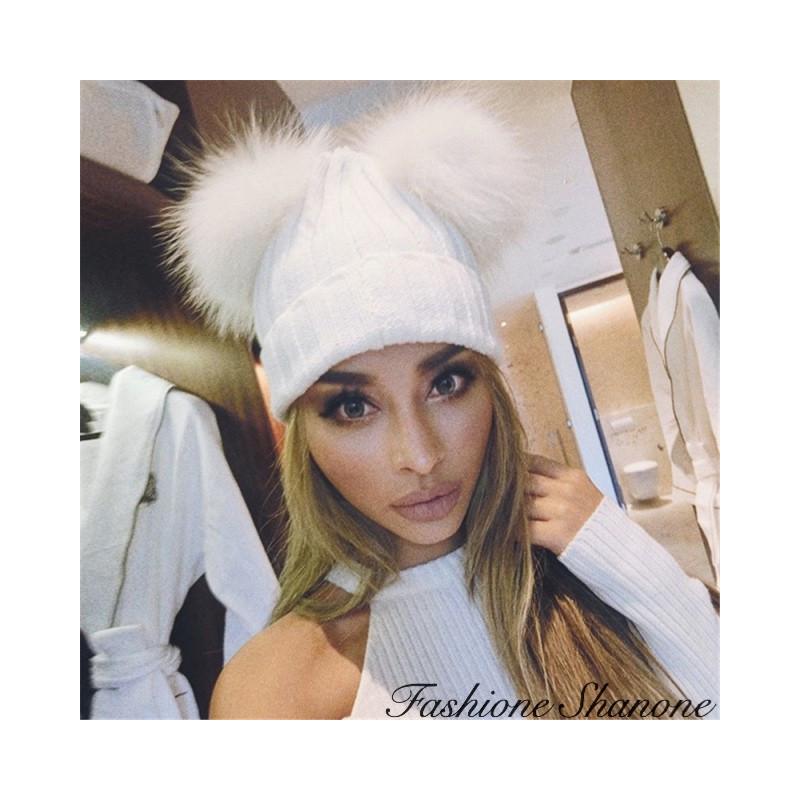 Fashione Shanone - 2 PomPoms beanie