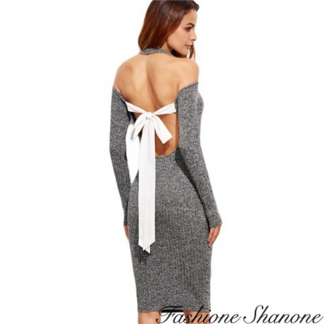 Fashione Shanone - Dress with bow on the back