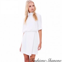 Fashione Shanone - Robe manches courtes avec col montant