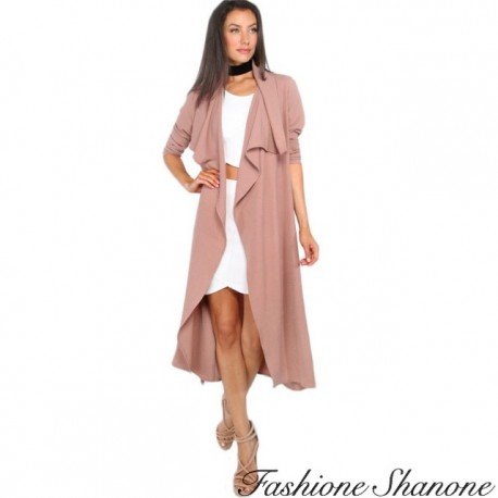 Fashione Shanone - Pink fluid trench