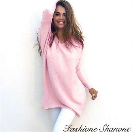 Fashione Shanone - V-neck long sweater