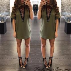 Fashione Shanone - Robe t-shirt à lacet