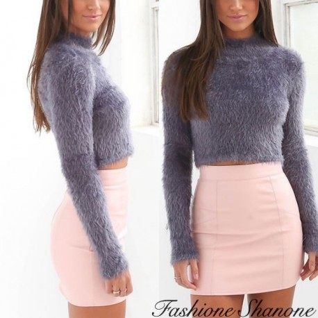 Fashione Shanone - High neck crop sweater