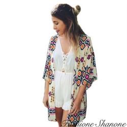 Fashione Shanone - Kimono à motifs géométriques