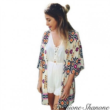 Fashione Shanone - Geometric patterns kimono
