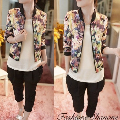 Fashione Shanone - Floral bomber