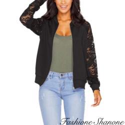 Fashione Shanone - Bomber avec manches en dentelle