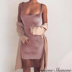Fashione Shanone - Robe en velours moulante