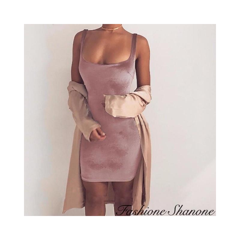 Fashione Shanone - Slinky velvet dress