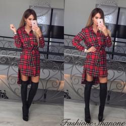 Fashione Shanone - Robe chemise plaid