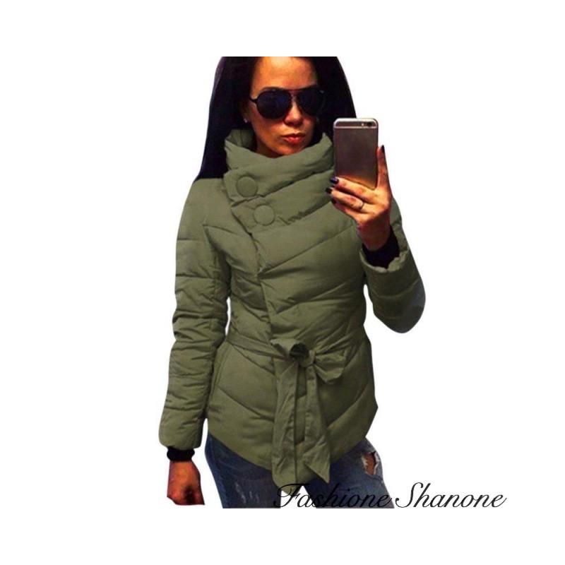 Fashione Shanone - Waisted khaki jacket