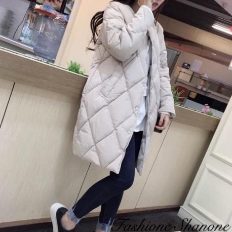 Fashione Shanone - Quilted long down jacket