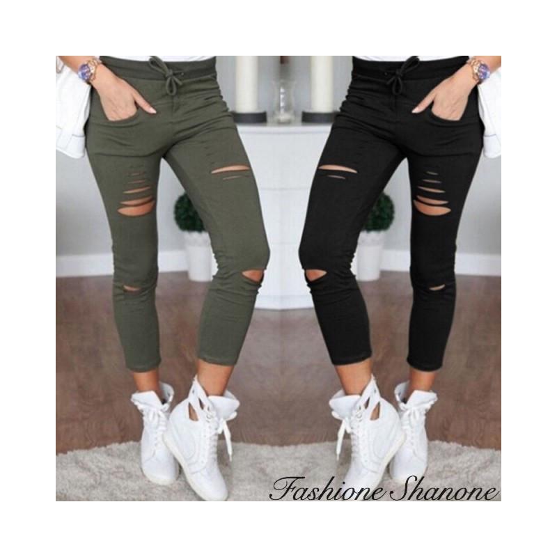 Fashione Shanone - Hole jogging pants