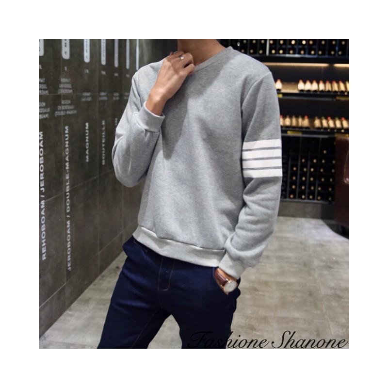 Fashione Shanone - Sweatshirt with white stripes