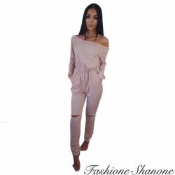 Fashione Shanone - Combinaison pantalon avec genoux troués