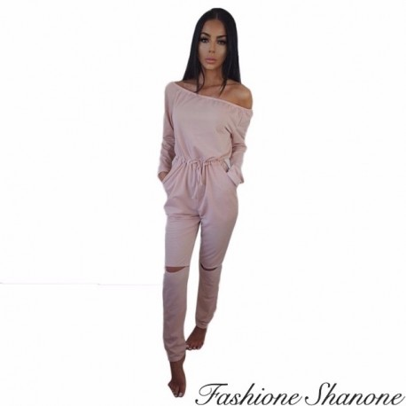 Fashione Shanone - Jumpsuit with holes knees