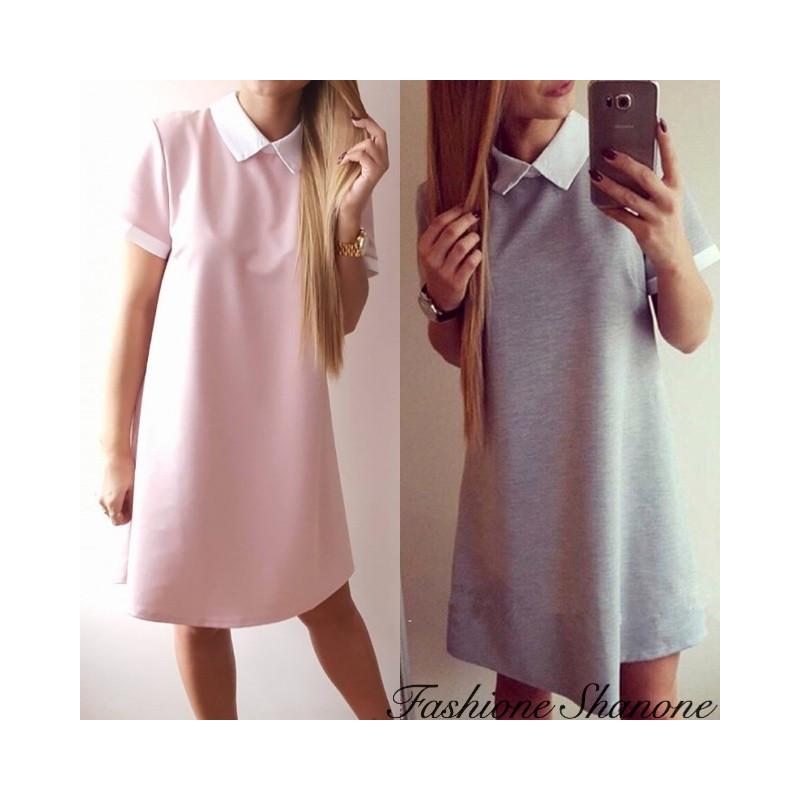 Fashione Shanone - Peter Pan collar short sleeve dress