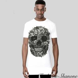 Fashione Shanone - T-shirt tête de mort fleurie