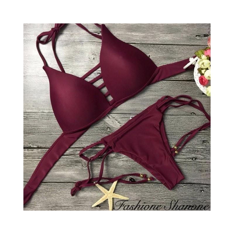 Fashione Shanone - Plunging neckline Brazilian bikini