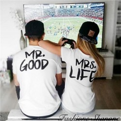 Fashione Shanone - MRS. LIFE couple T-shirt