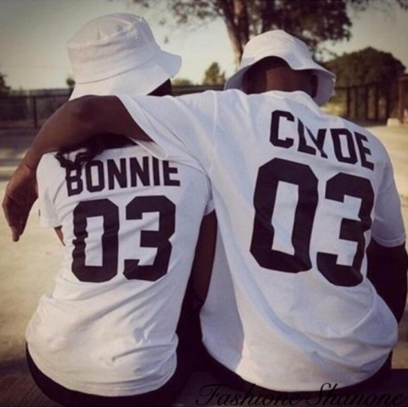 Fashione Shanone - Clyde couple T-shirt
