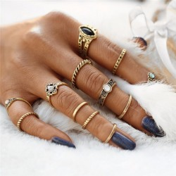 Fashione Shanone - 12 boho rings set