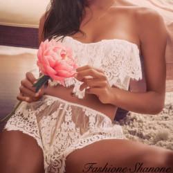 Fashione Shanone - Ensemble en dentelle bustier et short