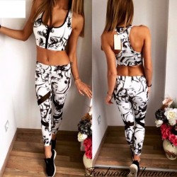 Fashione Shanone - Black and white sport set