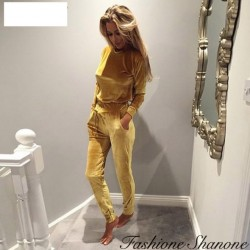 Fashione Shanone - Ensemble jogging en velours