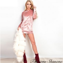 Fashione Shanone - Robe sweat en velours