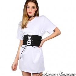 Fashione Shanone - Corset t-shirt dress
