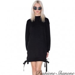 Fashione Shanone - Lace-up sweater dress