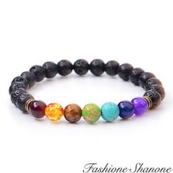 Fashione Shanone - Bracelet perles de lave multicolore