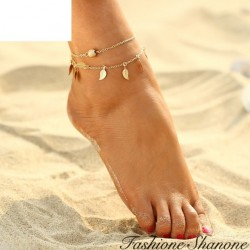 Fashione Shanone - Bead and feathers ankle chain