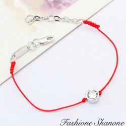 Fashione Shanone - Bracelet rouge avec diamant