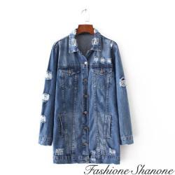 Fashione Shanone - Veste longue en jean destroy
