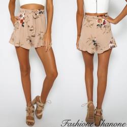 Fashione Shanone - Short taille haute fleuri