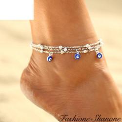 Fashione Shanone - Bracelet de cheville mauvais oeil