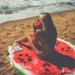 Fashione Shanone - Drap de plage rond pastèque