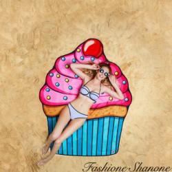 Fashione Shanone - Drap de plage cupcake
