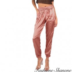 Fashione Shanone - Pantalon jogging satin